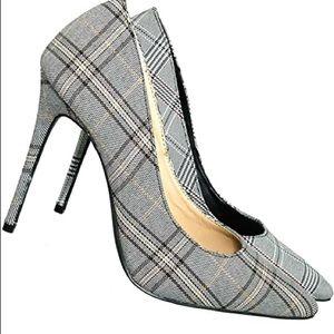 Wild Diva Plaid Tweed Stiletto